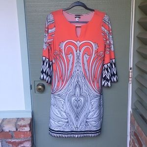 HAANI- size medium boho coral stretchy dress